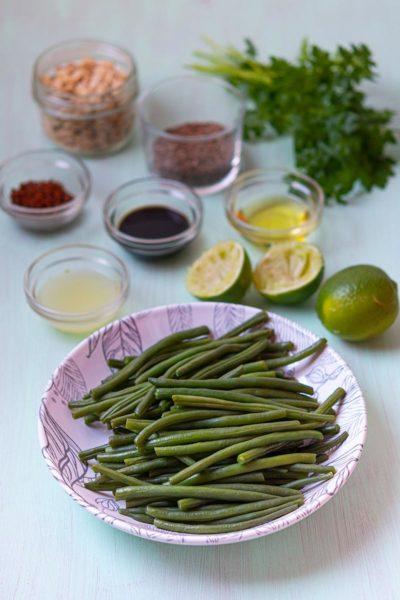 Recette de Salade de haricots à l'asiatique. Une recette idéale pour accompagner la viande pour Pâques !
