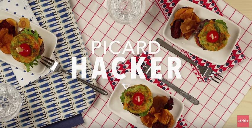 Recette en vidéo : mini burgers de légumes avec Picard Hacker