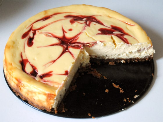 cheesecake chocolat blanc framboise facon starbucks coffee de stellacuisine