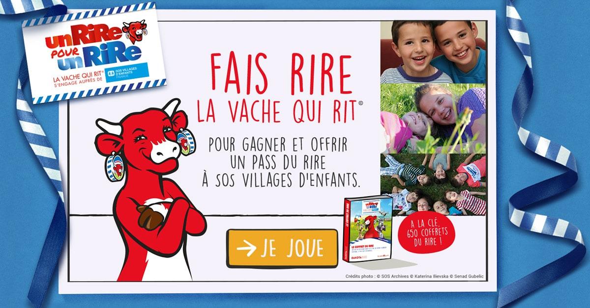 La vache qui rit® fait rire les français pour l'association «SOS Villages d'Enfants»