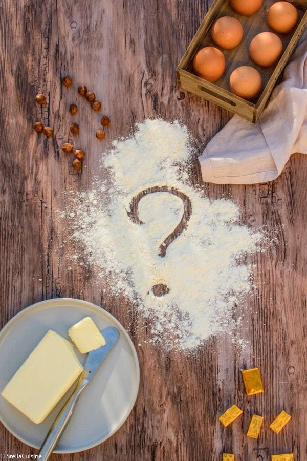 Par quoi remplacer ? Beurre, farine, oeufs, lait...
