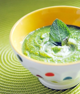 Recette de soupe glac e petits pois et menthe stella cuisine recettes faciles recettes - Soupe petit pois menthe ...