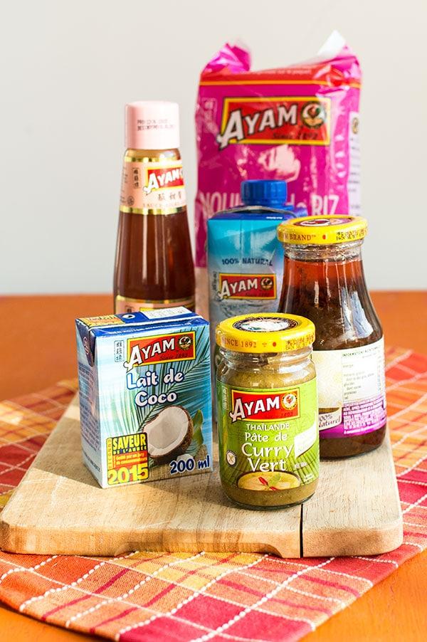 Produits Ayam et Recette de Pad thaï poulet