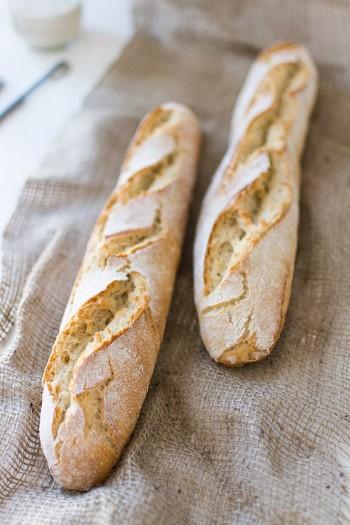Recette de baguettes de pain au levain