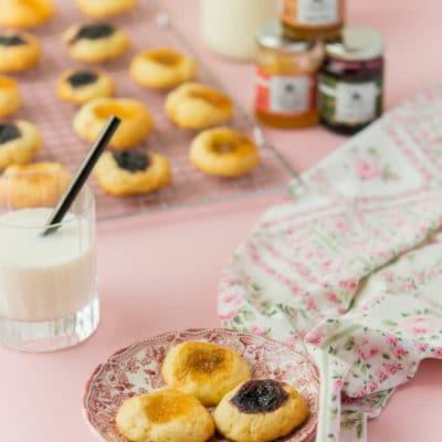 """Recette de Biscuits puits à la confiture """"La Petite Cueillette"""""""