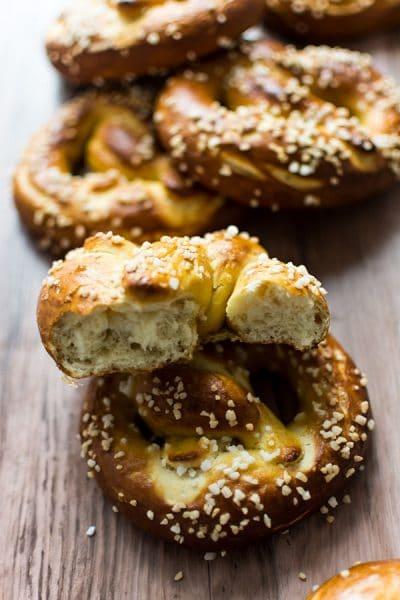 Recette de Bretzels, comme en Alsace, recette facile de pretzel ou bretzel, brioche salée alsacienne