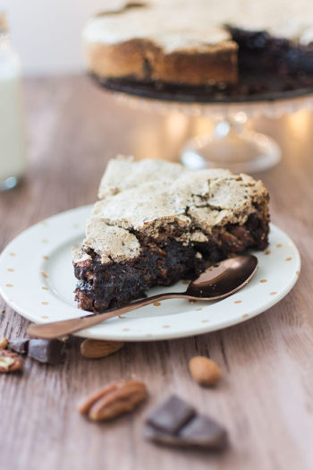 Recette de Brownie meringué des pistes aux fruits secs Seeberger