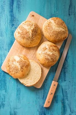 Recette de buns ou pains à hamburger, sans machine à pain