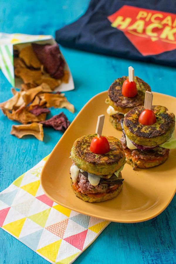 Mini burgers de légumes {Défi Picard Hacker}