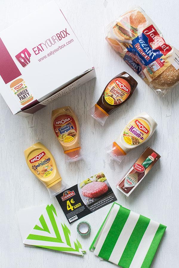 La Box Burger Party Amora x Eat your box