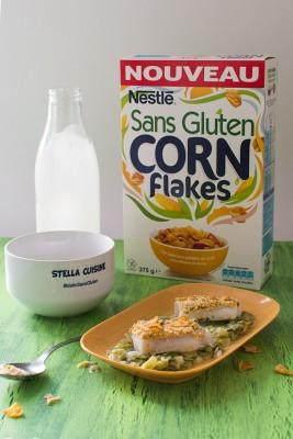 Recette de Cabillaud pané aux céréales Nestlé Sans Gluten