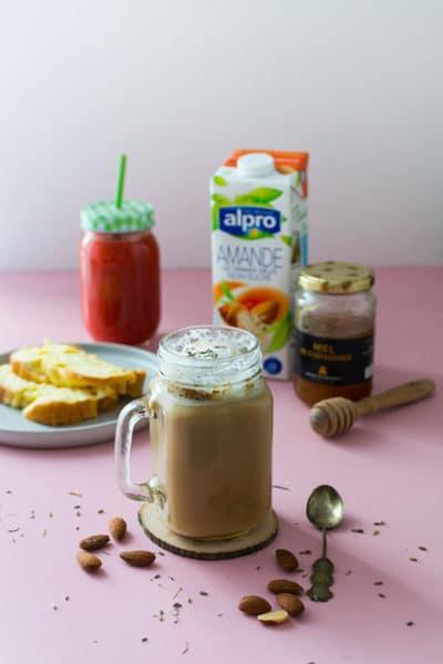 Recette de Café Latte à la lavande