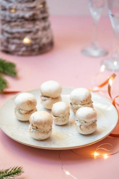 Recette de Noël végétarien : Macarons de champignons
