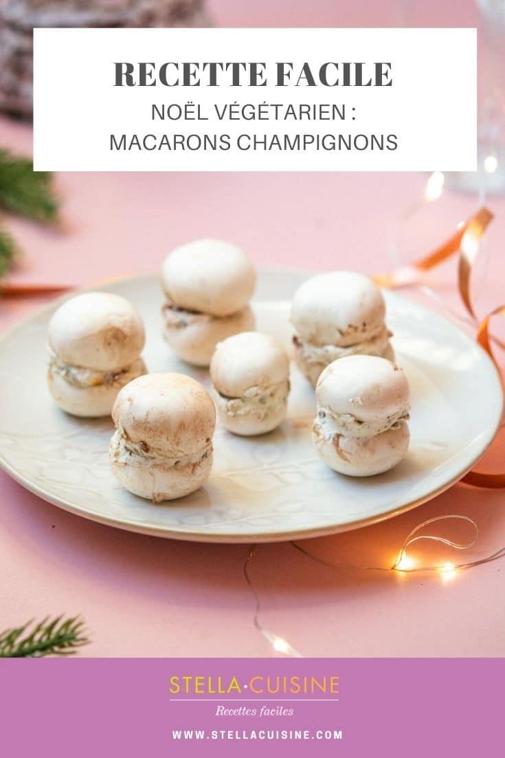 Recette de Noël végétarien : Macarons de champignons, recette express d'apéritif pour Noël