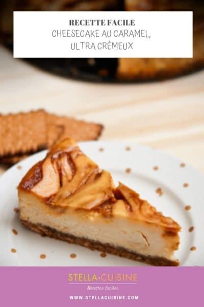 Recette de cheesecake au caramel, recette rapide, recette facile, recette pas chère, recette cheesecake