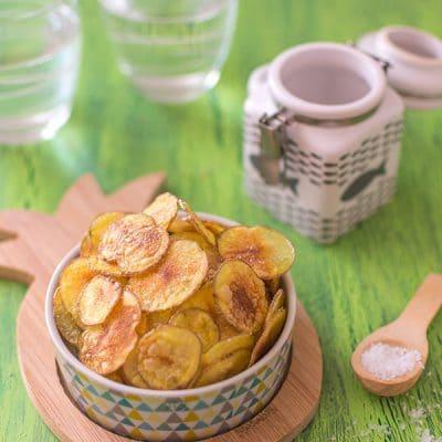 Chips maison, moins grasses et moins salées !