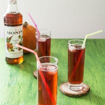 Recette de Cocktail cidre, citrouille épicée, cranberry