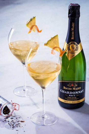 Recette de Cocktail Exotea'c (Roche Mazet Chardonnay Brut et thé)