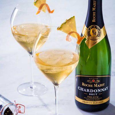 Cocktail Exotea'c (Roche Mazet Chardonnay Brut et thé)