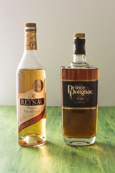 Pineau des Charentes blanc Reynac et cognac Prince Polignac, recettes de cocktails originales