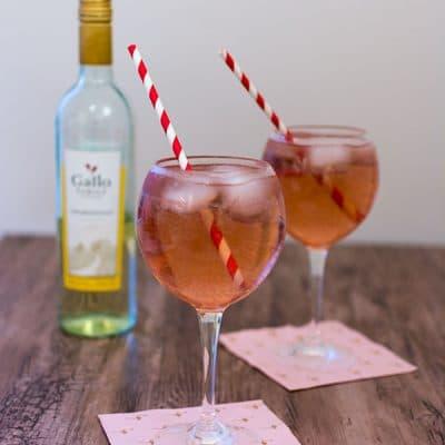 Cocktail au vin blanc Gallo Family Vineyards