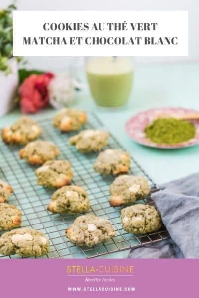 Recette de Cookies au thé matcha et chocolat blanc. Recette facile de cookies au thé vert matcha, un délice de gourmandise avec des pépites de chocolat blanc !