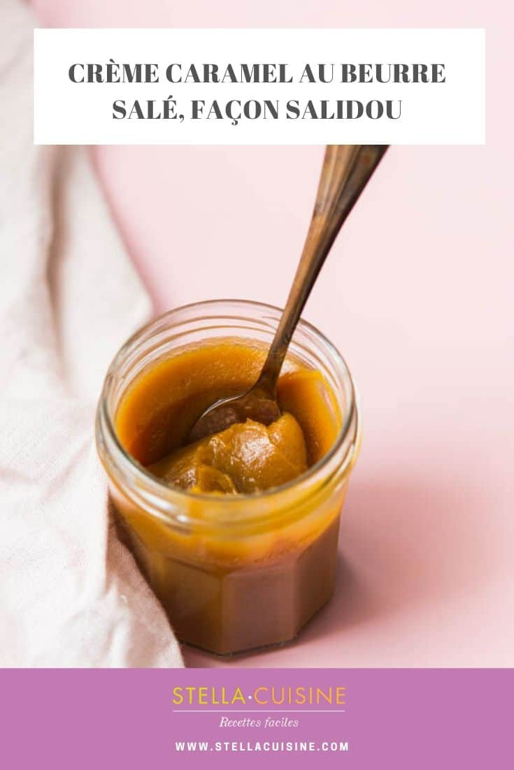 Recette de Crème caramel beurre salé