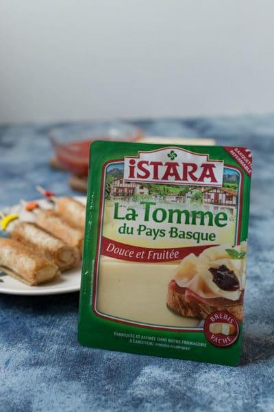 Recette facile de croque apéro à la tomme du pays basque Istara