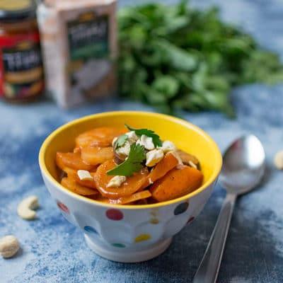 Recette de Curry de légumes d'automne, recette facile de curry de légumes et possible d'adapter à chaque saison ! Un régal !