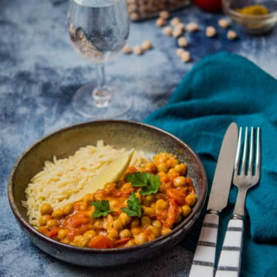 Recette de curry de pois chiches (chana masala), recette légère et saine, recette WW bleu en 2SP.