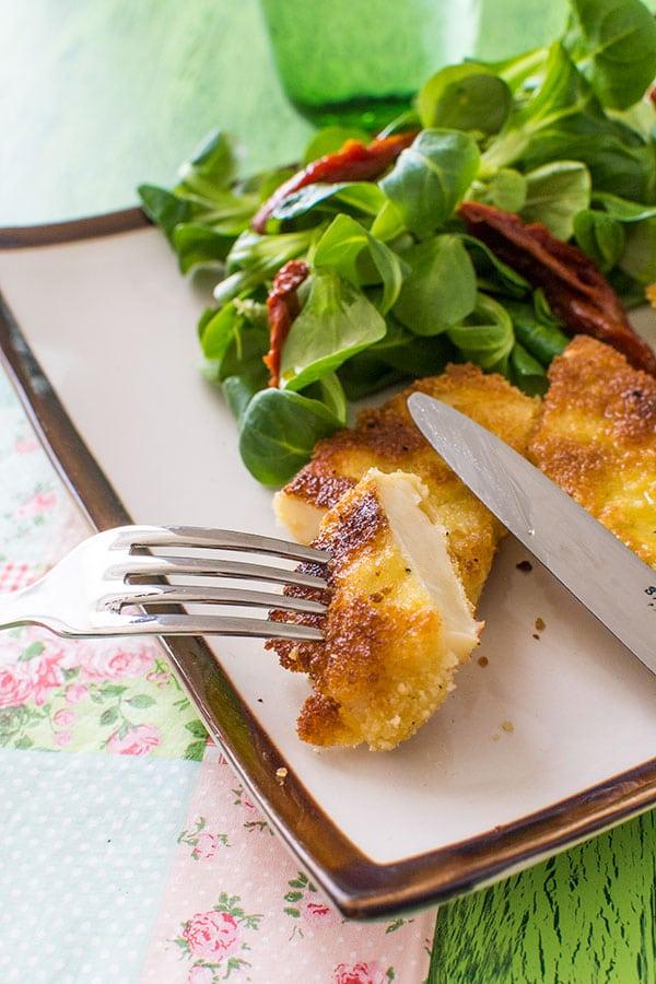 Recette d'Escalopes de céleri, recette végétarienne facile et rapide.