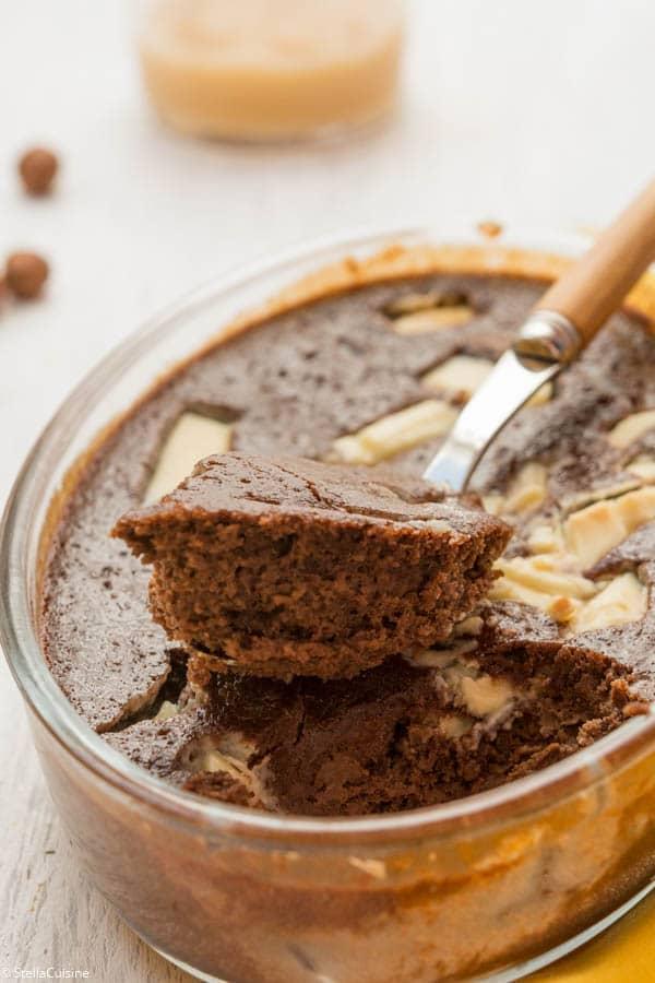 Recette de Brownie à la compote de pommes, recette de brownie sans beurre, sans farine.