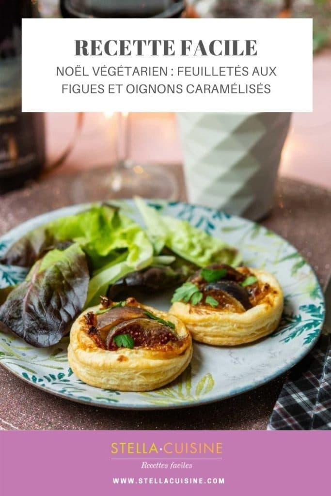 Recette de Noël végétarien : Feuilletés aux oignons et aux figues