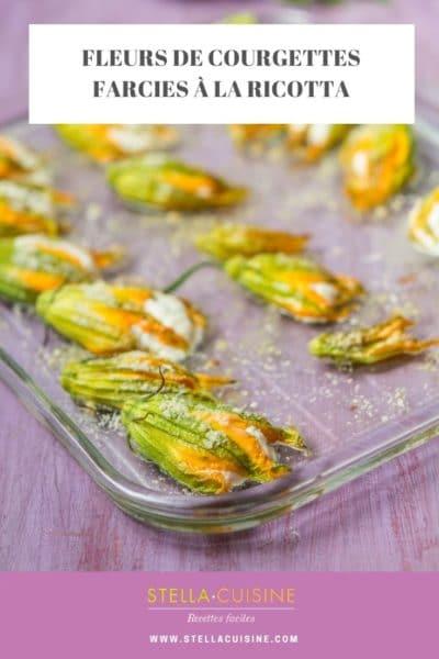 Recette de Fleurs de courgettes farcies à la ricotta (végétarien)