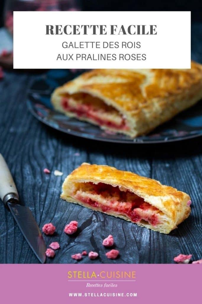 Recette de Galette des rois aux pralines roses, recette facile de galette des rois qui change pour l'épiphanie !