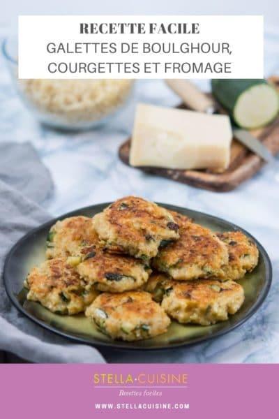 Recette de Galettes de boulghour, courgettes, fromage