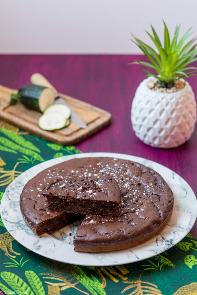 Recette de Gâteau au chocolat et à la courgette, sans ...