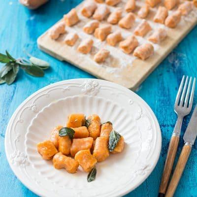 Recette de Gnocchis de patate douce au beurre de sauge
