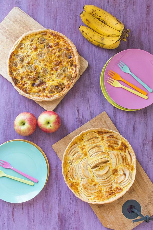 Les tartes de mon enfance avec Herta… Pommes, bananes, chocolat…