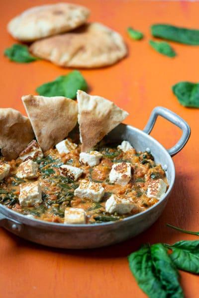 Recette de Palak Paneer (curry d'épinards, avec paneer fait maison)