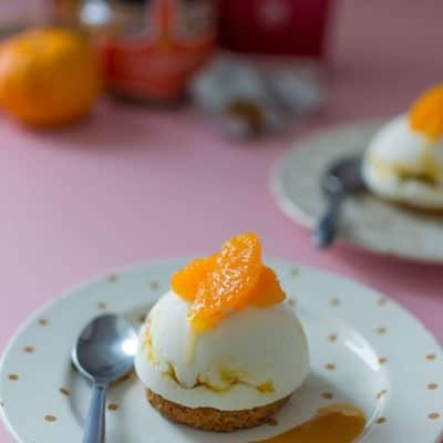 Recette de Comme un cheesecake à la clémentine, coulis de mirabelle, facile avec les produits Jours Heureux !