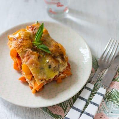 Lasagnes végétariennes au potiron et à la ricotta