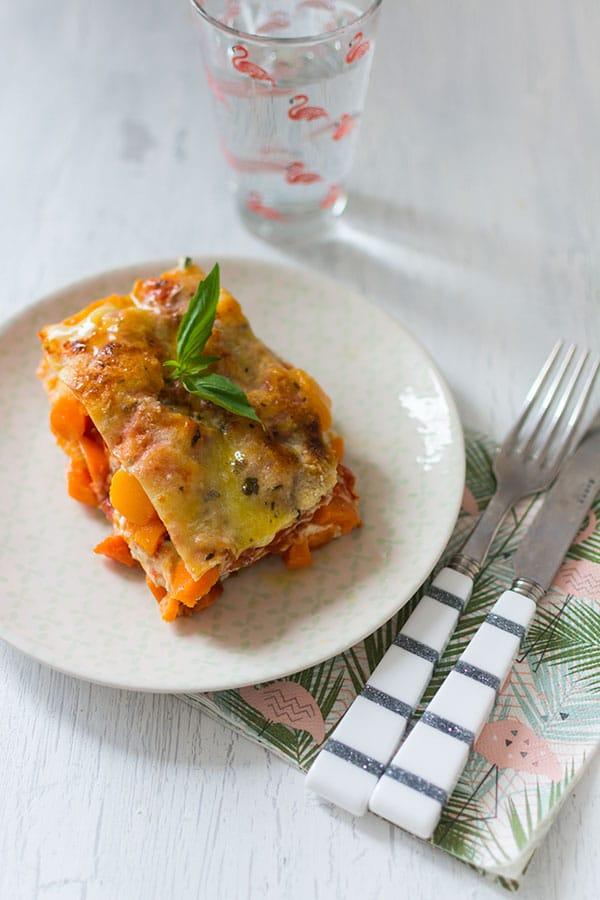 Recette de Lasagnes végétariennes au potiron et à la ricotta