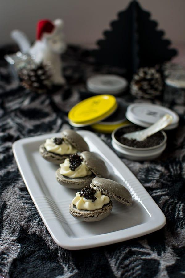 Recette de Macarons chocolat blanc et Caviar de Neuvic