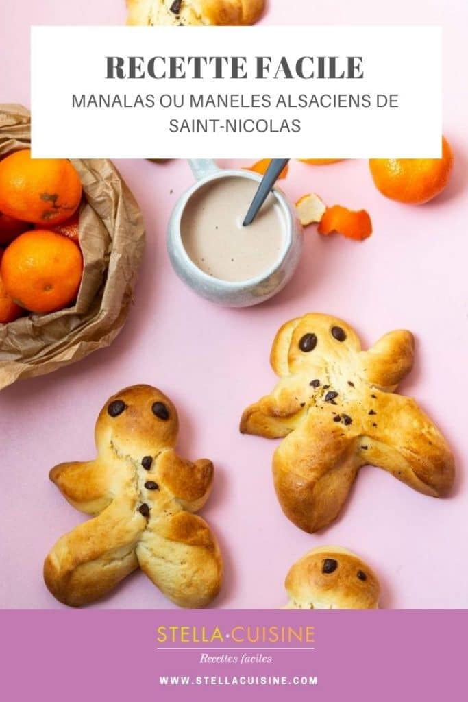 Recette de manalas ou mannele de la Saint-Nicolas en Alsace, recette rapide, recette de brioche pour Saint-Nicolas.