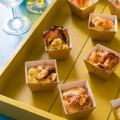 Recette de Quiche sans pâte au saumon fumé, recette de quiche sans pâte ou mini quiche, idéal pour l'apéro !