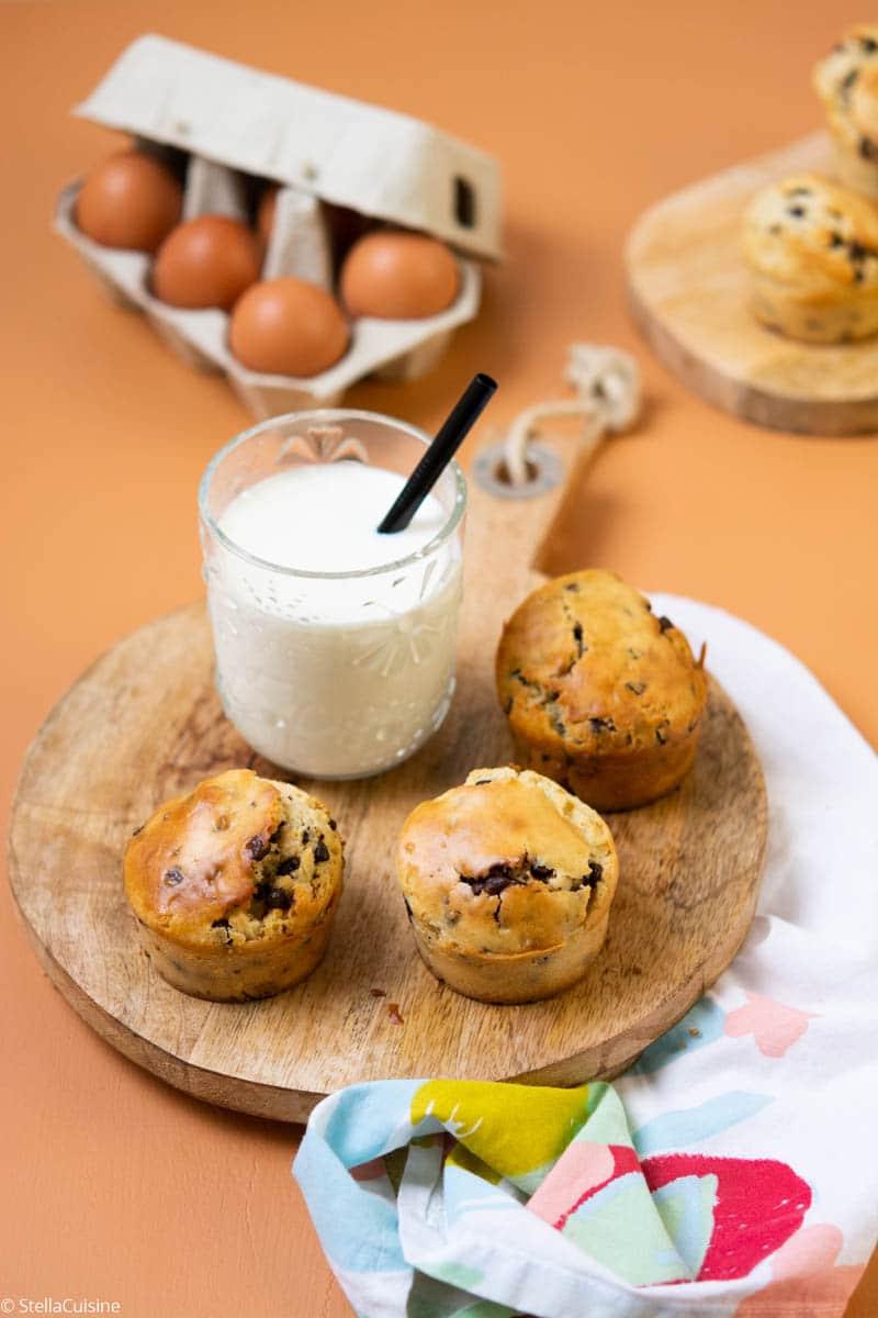 Recette facile de muffins aux pépites de chocolat !