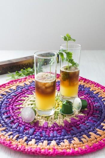 Cocktail sans alcool café Nespresso et coriandre {Editions limitées Rwanda et Mexique}