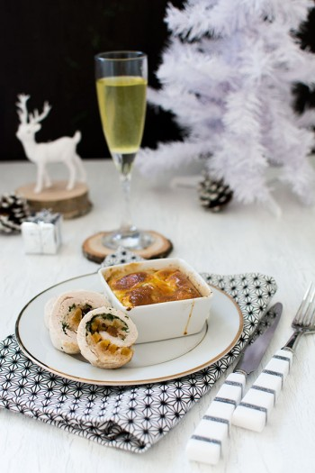 Recette de Noël : Ballotines de dinde aux abricots et pruneaux, ballotines de dinde sucré-salé facile pour noel