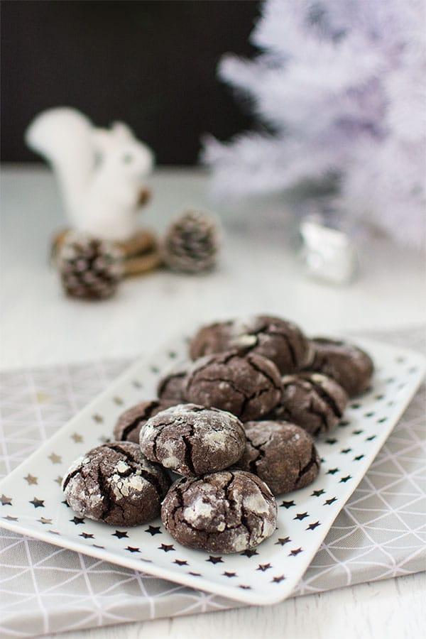 Crinkles (biscuits craquelés au chocolat)
